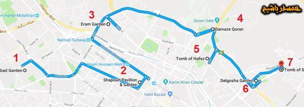 نقشه مترو شیراز